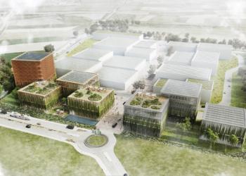 Visualisierung: Gesamtansicht des Green Innovation Parks. Grafik: pm