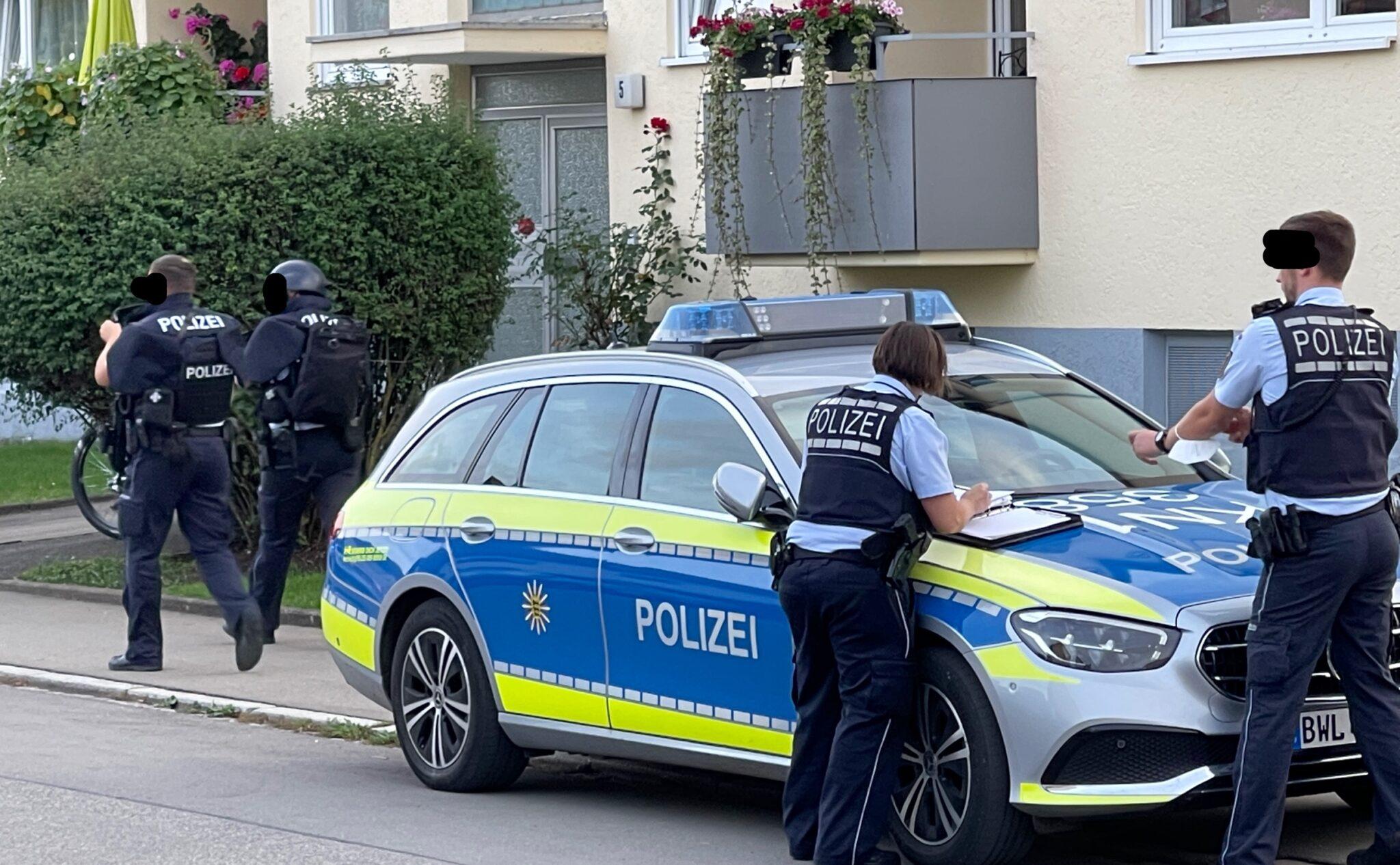 Polizei am Einsatzort. Archiv-Bild: gg