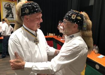 Der zurückgetretene Hänselevater Harald Kirchmaier (links) und sein Vize Uwe Wolfensperger, der die Zunft bis zu den nächsten planmäßigen Vorstandswahlen im Herbst 2022 kommissarisch leitet. Foto: pm