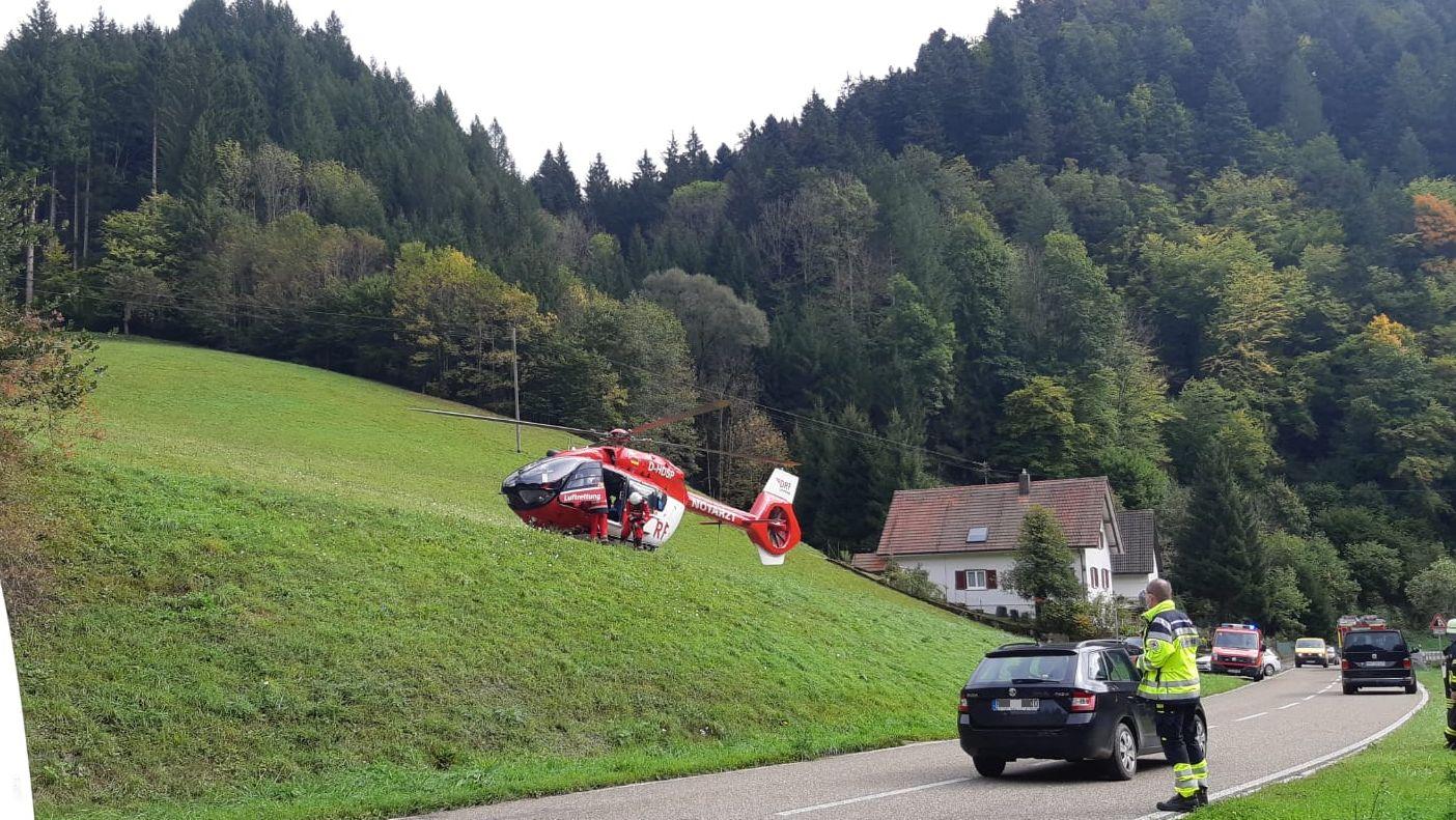 Der Rettungshubschrauber war ebenfalls im Einsatz. Foto: Feuerwehr