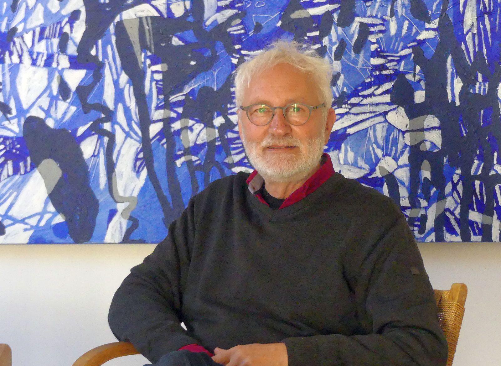 Rémy Trevisan in seinem neuen Atelier in Lauterbach. Foto: him