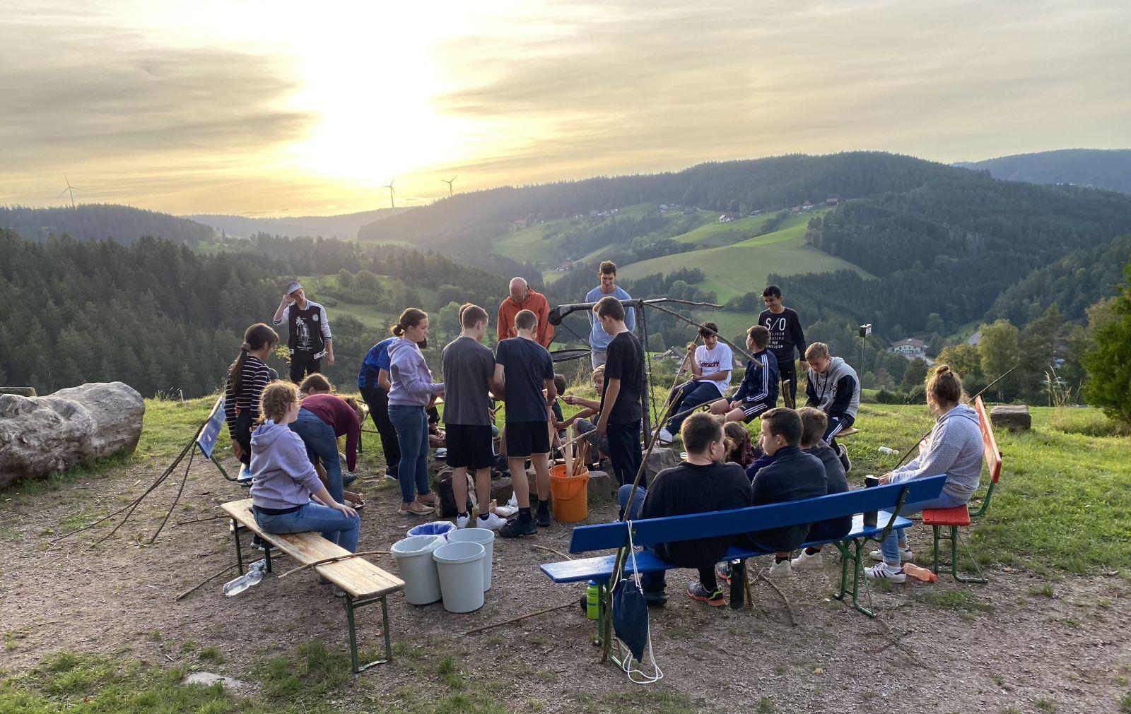 Bei den Waldtagen des Gymnasiums Schramberg. Fotos: pm