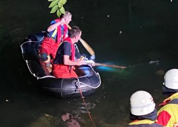Feuerwehreinsatz per Schlauchboot in Rottweil. Foto: Blaulichtreport Rottweil