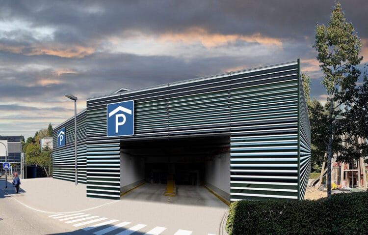Visualisierung eines möglichen Parkhauses (Bildausschnitt). Grafik: Andreas Dreher